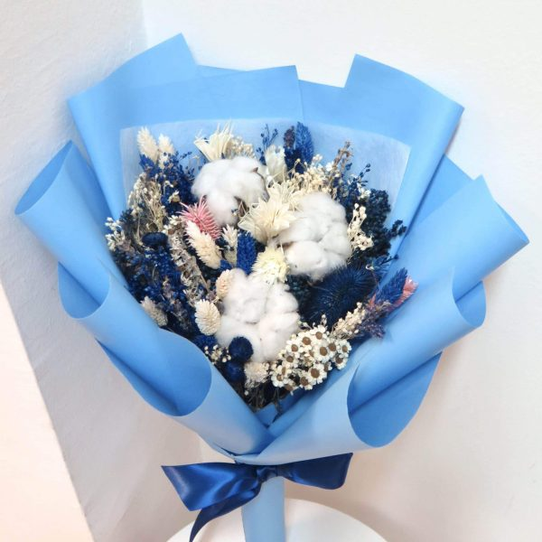 Blue Dried Bouquet