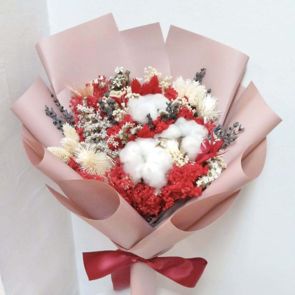 Red Dried Bouquet